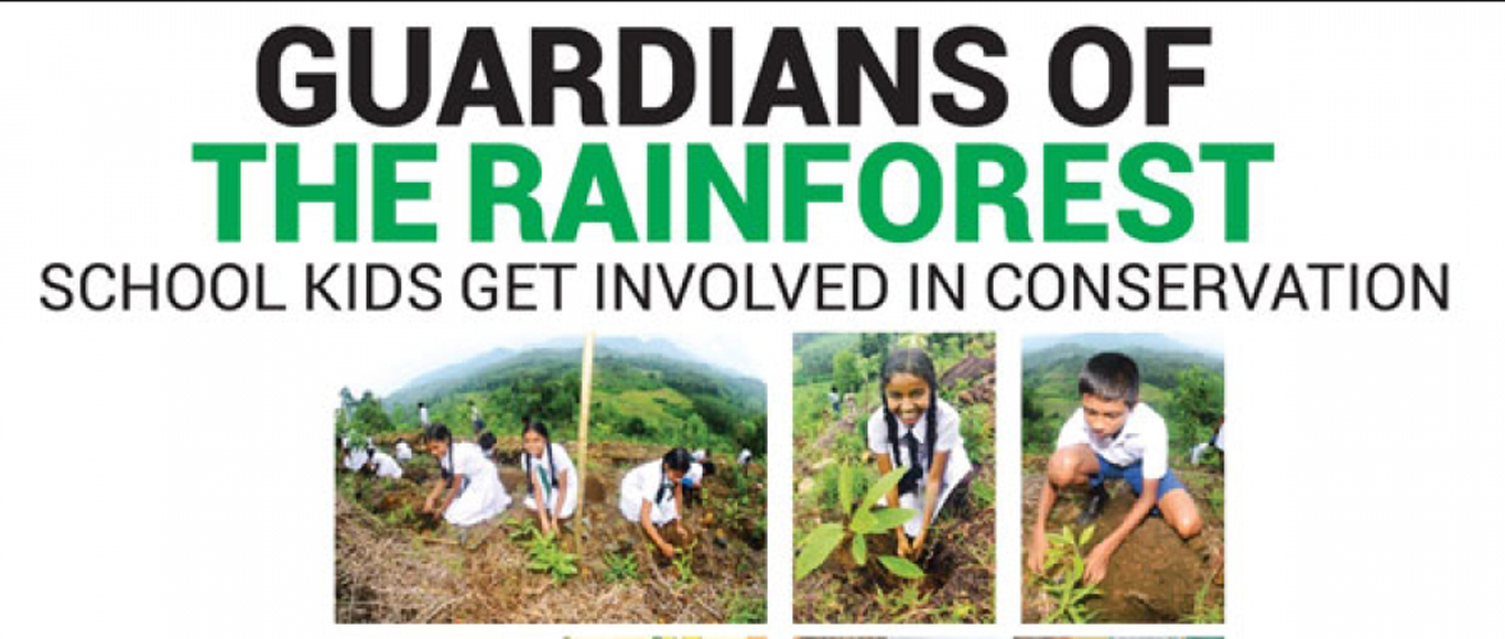 Guardians of the Rainforest School kids get involved in conservation