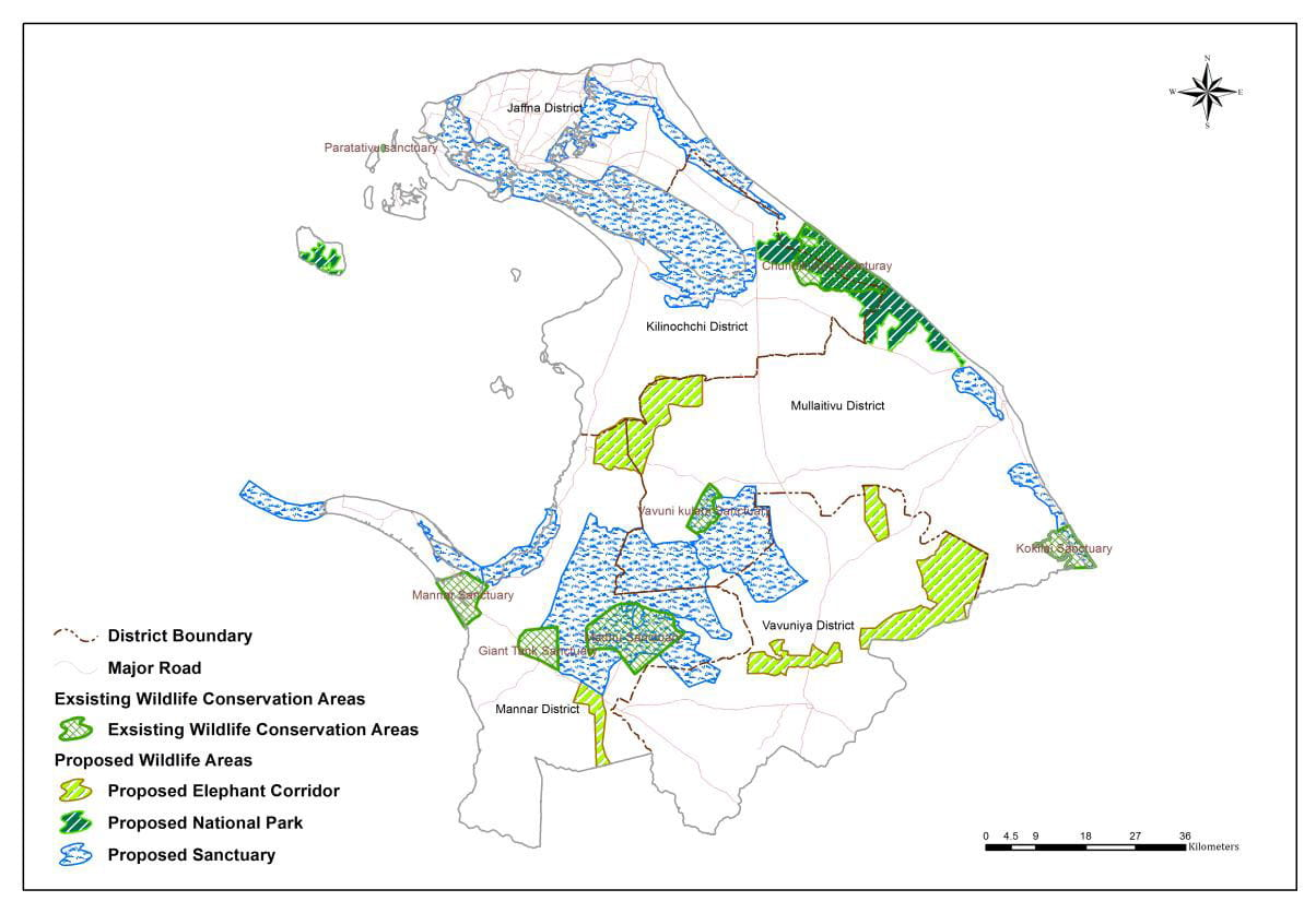 Existing and proposed wildlife conservation areas